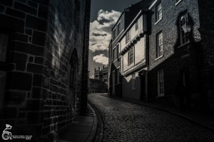 Looking back up the cobbled street to Durham Cathedral by Tony Flynn www.flickr.com/photos/tattoo_tony