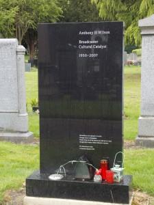 Anthony Wilson's grave