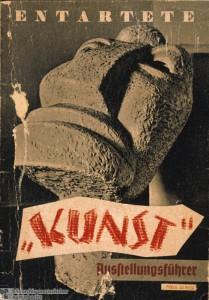 """""""Entartete 'Kunst'. Ausstellungsfhrer"""" zur Mnchener Ausstellung 1937."""