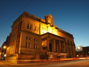 Bury Art Gallery at Night