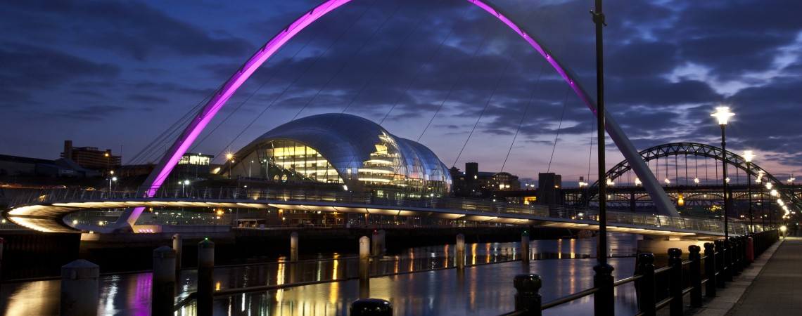 The Sage Gateshead at night credit Mark Savage