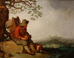 A Man with a Dog in a Landscape © Matthew J Graham, 2014