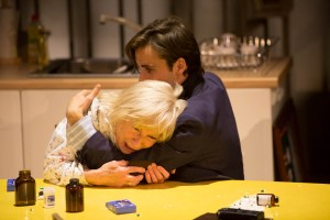 Eileen O'Brien as Maggie & Ciaran Kellgren as Simon in Hope Place at Liverpool Everyman (c) Jonathan Keenan