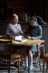 Eileen O'Brien as Maggie & Kaitlyn Hogg as Young Maggie in Hope Place at Liverpool Everyman (c) Jonathan Keenan