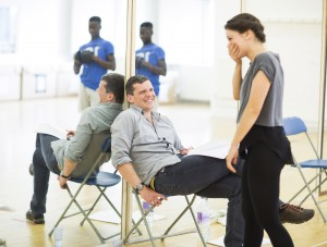 Shrek Tour Rehearsals 29, Nigel Harman (Director), Faye Brookes (Princess Fiona), Photo Credit - Helen Maybanks