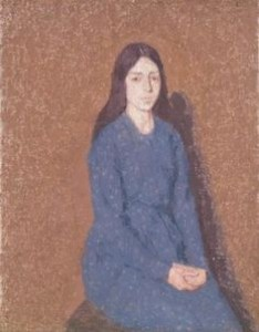 gwen john girl in a blue dress