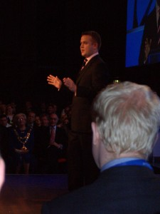 Richard Stephenson chairing the Conservative Party Conference
