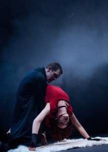 Mark Bruce Company in 'DRACULA', Jonathan Goddard and Kirstin McGuire - photo by Colin Hawkins s
