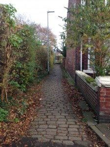 Part of the route that links Chorlton to Firswood‏ is on slippery cobbles.