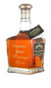 Engraved bottle of Single Barrel Jack Daniels