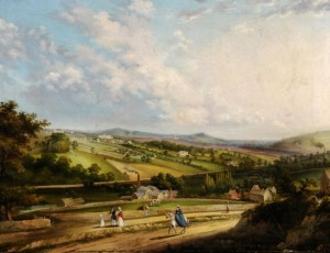 Unknown artist, View of Sheffield from Sharrow Moor, c1838