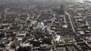 How the Cathedral might have looked in the Liverpool of today