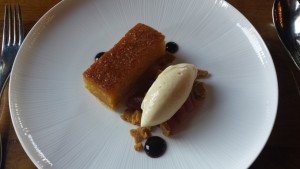 Treacle Tart with Pear Sorbet