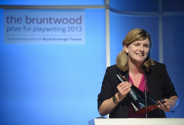 Anna Jordan - winner of the Bruntwood Prize for Playwriting 2013.