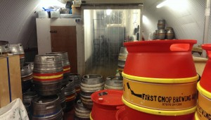 First Chop Brewing Arm beer kegs