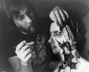 Rick Baker working on Griffin Dunne