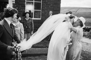 Wedding, Crimsworth Dean Methodist Chapel, 1977.  Martin Parr from Magnum Photos
