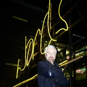 Willy Russell and the Neon 'Words' Artwork