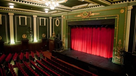 Epstein Theatre auditorium and stage
