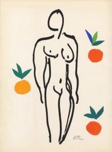 Mastisse Nu aux Oranges