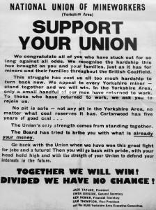 NUM leaflet (© Barnsley Archives & Local Studies)