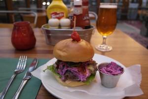 Burger at The Beagle