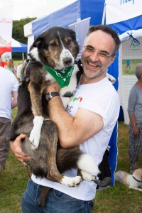 Noel Fitzpatrick and a furry friend