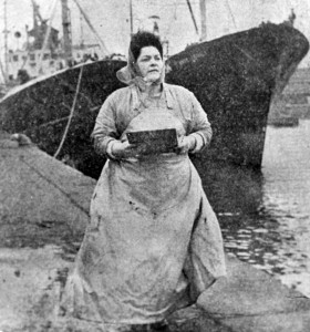Lily Bilocca at the docks