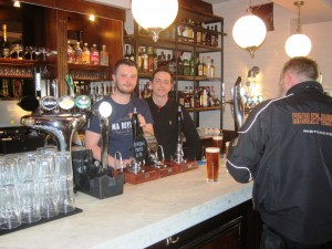 Head barman Tom Wilson (left) with owner Iain Hoskins in the main bar