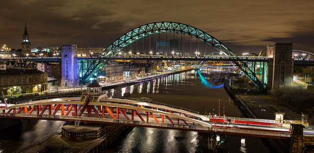Newcastle bridges by Phil Pounder