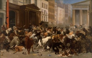 William Holbrook Beard, The Bulls and Bears in the Market (1879)