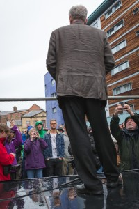 Jeremy Corbyn at the Newcastle rally, by Phil Pounder