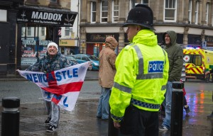 EDL at the Newcastle Jeremy Corbyn rally, by Phil Pounder
