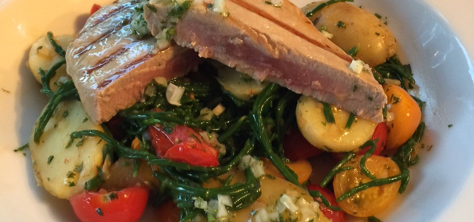 Warm Potato and Samphire Salad with Tuna