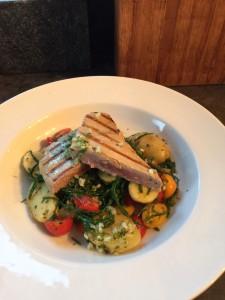 Warm Potato and Samphire Salad with Tuna