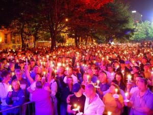 Pride candlelit vigil