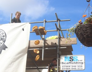 Yorkshire Puddings topple at The World Black Pudding Throwing Championship