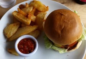Burger at Tate Cafe, photo by Damon Fairclough