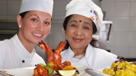 eneral Manager Giordana Annibal and Asha Bhosle