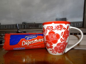 You just can't beat a brew and a bickie on a grey London day