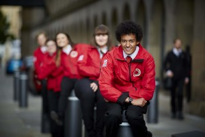 Cameron with fellow volunteers of City Year Greater Manchester