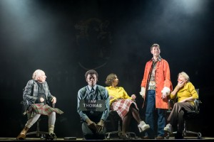John Cobb, Charlie Folorunsho, Amanda Hadingue, Dominic Mash & Myra McFadyen in I Am Thomas (c) Manuel Harlan