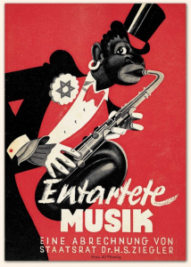 Show poster for Nazi's 1938 exhibition of 'Degenerate Music'