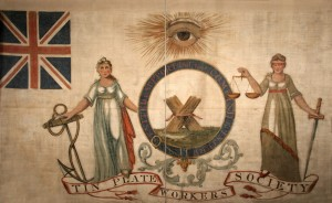 Liverpool Tinplate Workers Society banner, 1821 -® People's History Museum