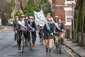 Suffragette bike tour of Manchester