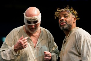 KING LEAR (RET) L-R Philip Whitchurch (Earl of Gloucester) & Don Warrington (King Lear) Photo Jonathan Keenan