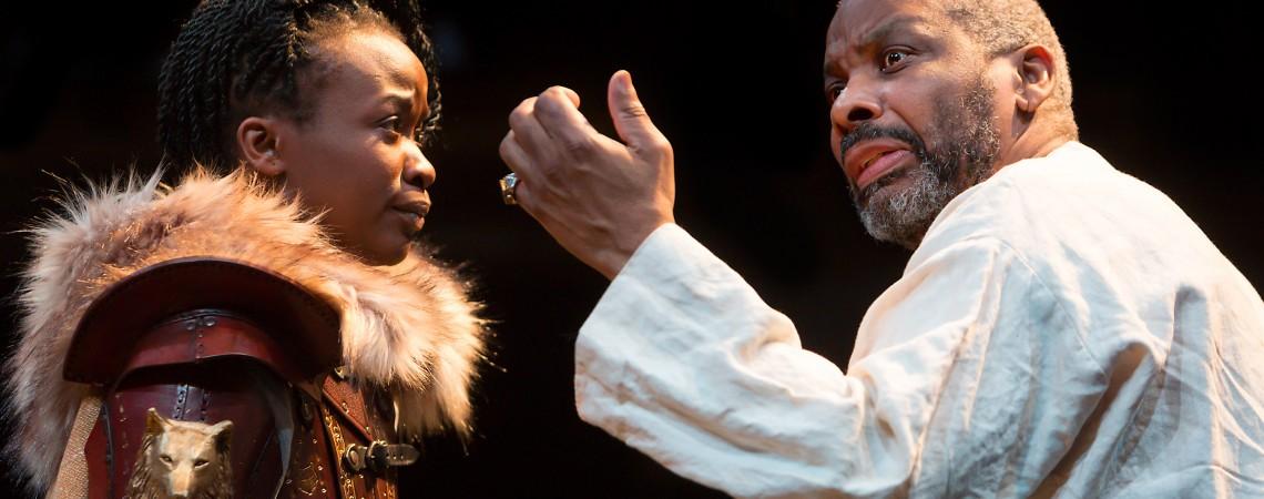 L-R Pepter Lunkuse (Cordelia) & Don Warrington (King Lear) Photo Jonathan Keenan