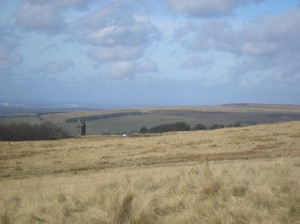 The Pigeon tower and surrounding moorland
