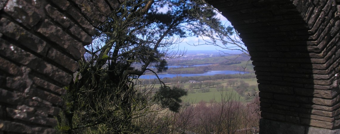 Archway overlooking the reservoirs