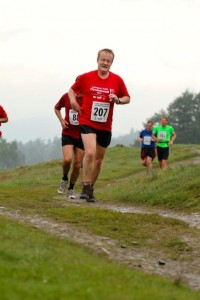 Jeff Prestridge running in the Lakes
